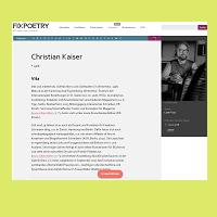 Fixpoetry Christian Kaiser